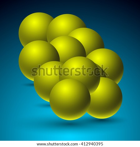 Color sphere. Illustration in realistic style. Template for your design.