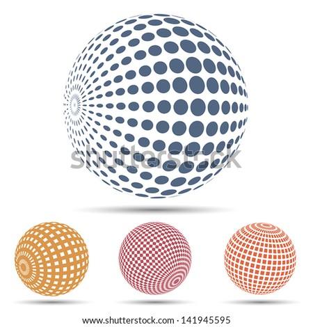 Color spheres set - stock vector
