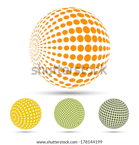 Color spheres set - stock vector