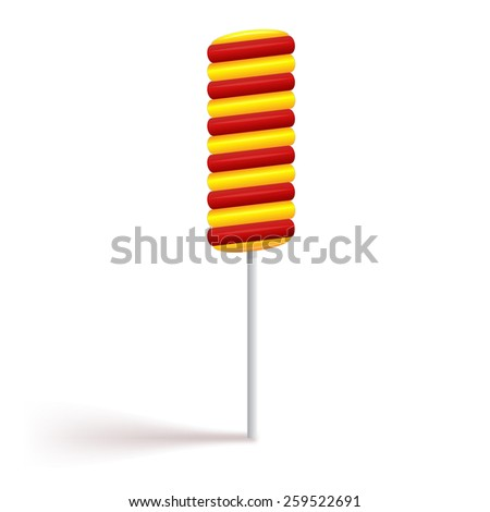Color spiral candy. - stock vector