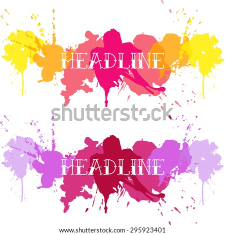 Color splash  - stock vector