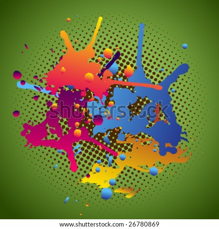 Color splashes. Check my portfolio for others. - stock vector