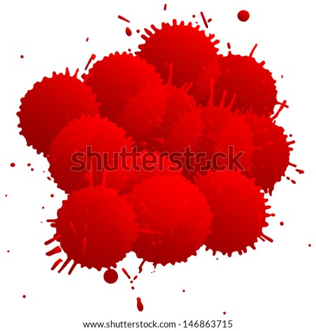 color splats - stock vector