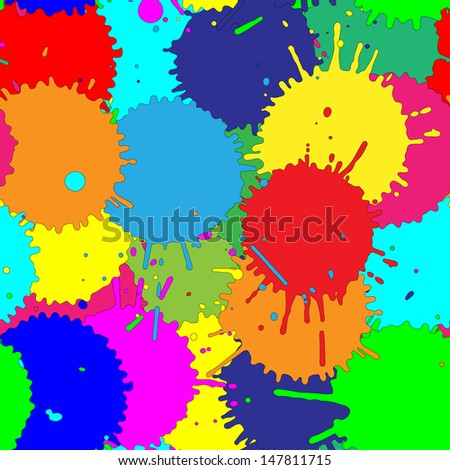 color splats pattern - stock vector