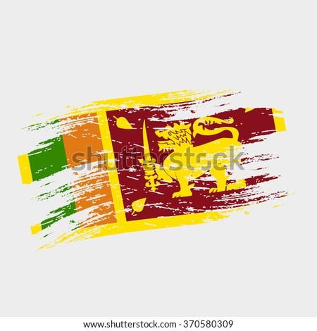 color sri-lanka national flag grunge style eps10 - stock vector