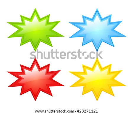 Color stars icon vector illustration isolated on white background - stock vector