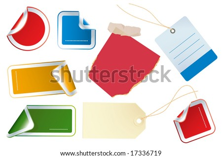 Color stickers. Vector.