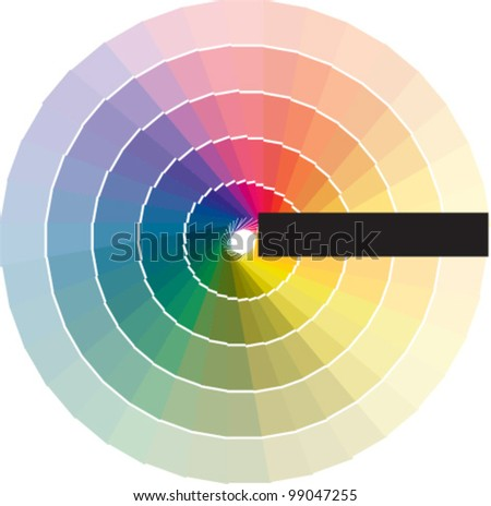 Color swatches. Vector - stock vector