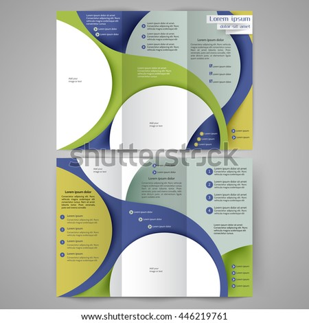 Color tri fold business brochure design stock vector royalty free color tri fold business brochure design template brochure layout with abstract lines and waves accmission Image collections