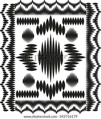 color tribal indian  pattern. abstract geometric print. ethnic hipster backdrop. It can be used for wallpaper, web page background, fabric, paper, postcards. - stock vector