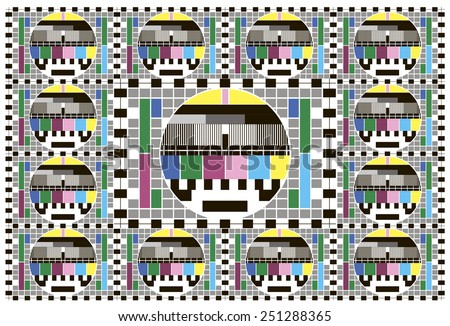Color TV grid screen background - stock vector