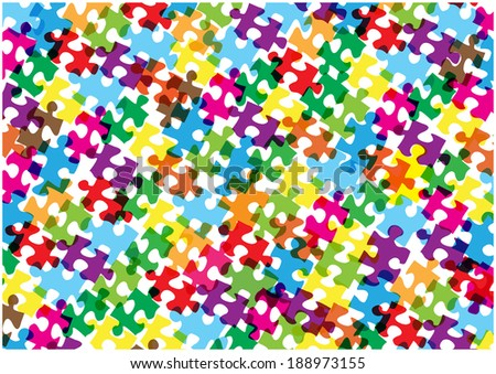 color vector puzzle background - stock vector