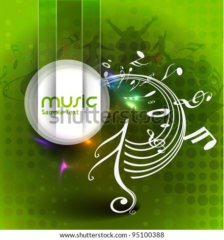 Color vector the music poster design use. - stock vector