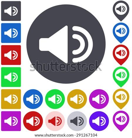 Color Volume Icon Button Symbol Set Stock Vector 291267104