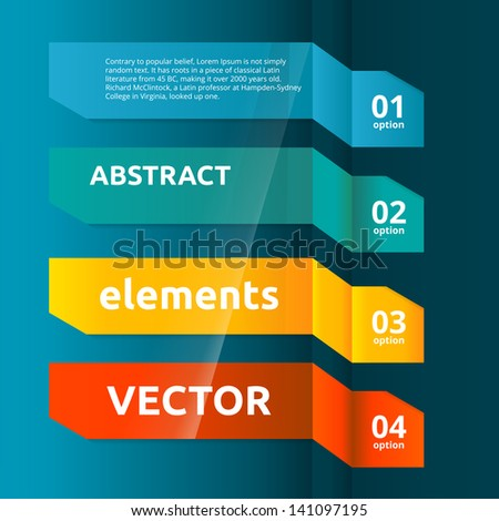 Color Web Banners Set. Infographic Design Template. - stock vector