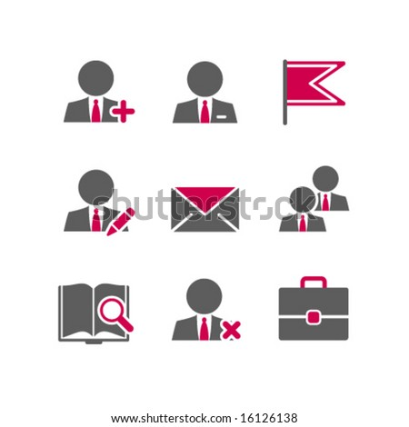 Color web icons, set 1 - stock vector