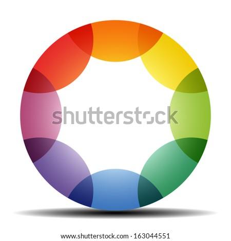 Color wheel - stock vector