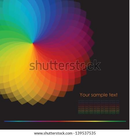 Color wheel background. Vector Illustration - stock vector
