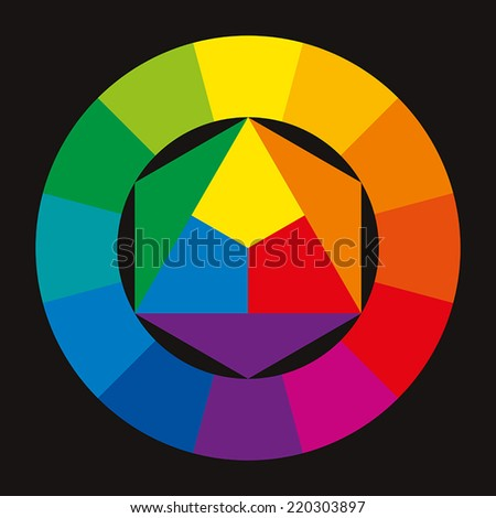 Color Wheel On Black Background