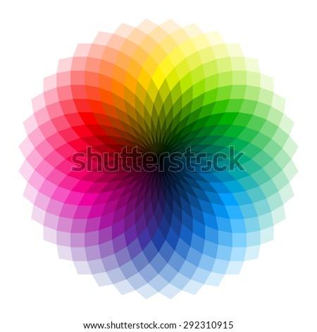 Color wheel. Vector. - stock vector