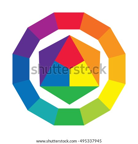 Primary Secondary Colors Stock Images Royalty Free