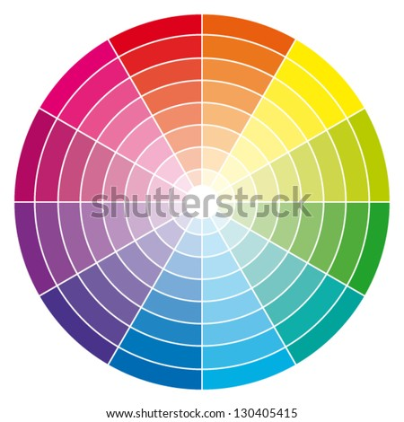 Color wheel. Vector illustration. - stock vector