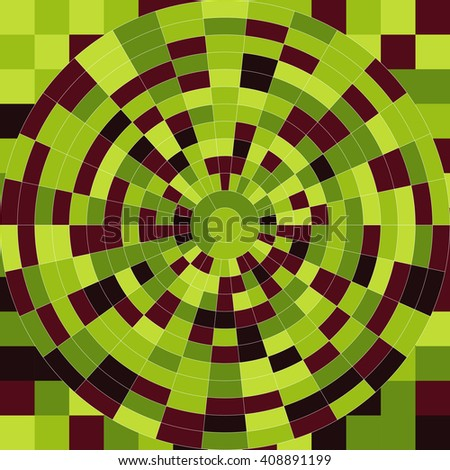 Color wheels in color square background. Vector illustration - stock vector