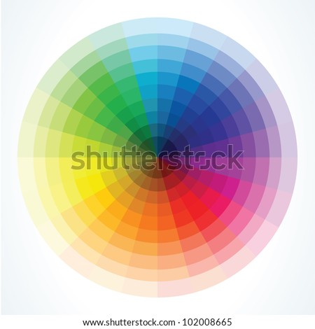Color wheels. Vector illustration - stock vector