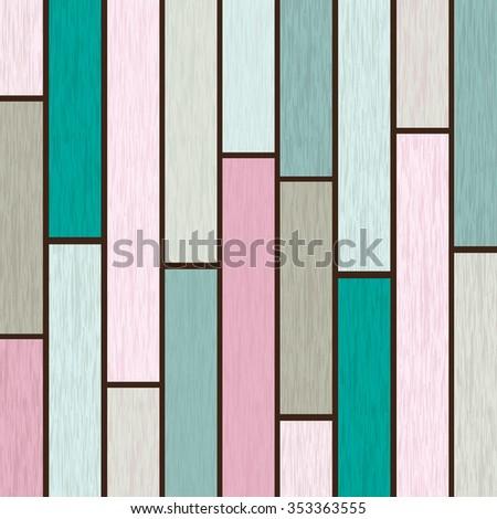 color wooden texture background. vector illustrator - stock vector