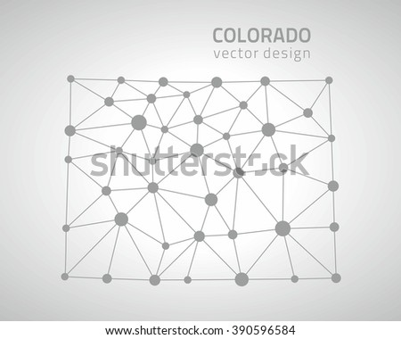 Colorado Outline Map Usa State Stock Vector Shutterstock - Outline map us