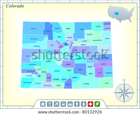 Colorado Map Stock Images RoyaltyFree Images Vectors - Colorado state map