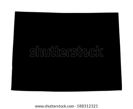 Colorado vector map isolated on white background.