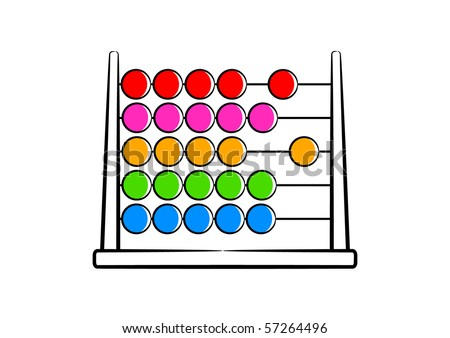 Colored abacus - stock vector