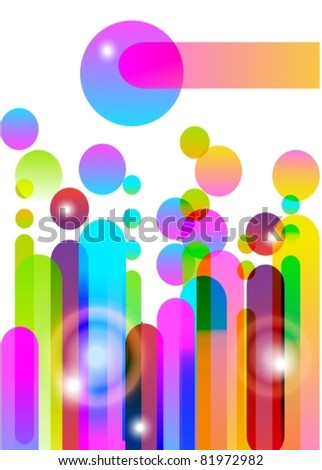 Colored abstract background, vector