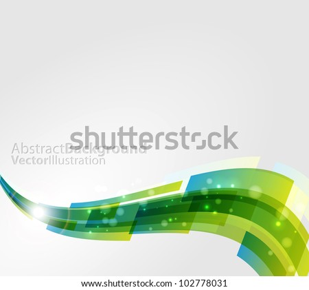 Colored abstract wavy background - stock vector