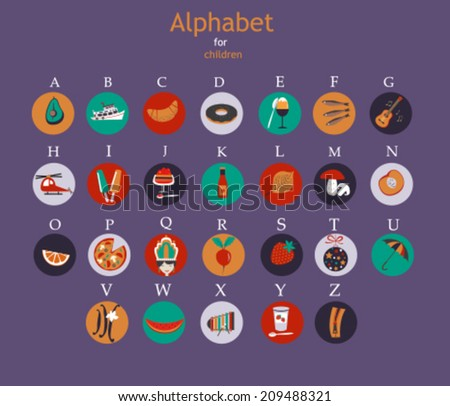 Colored alphabet for children. Vector - stock vector