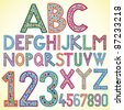 Colored alphabet - vector illustration - stock vector