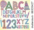 Colored alphabet - vector illustration - stock