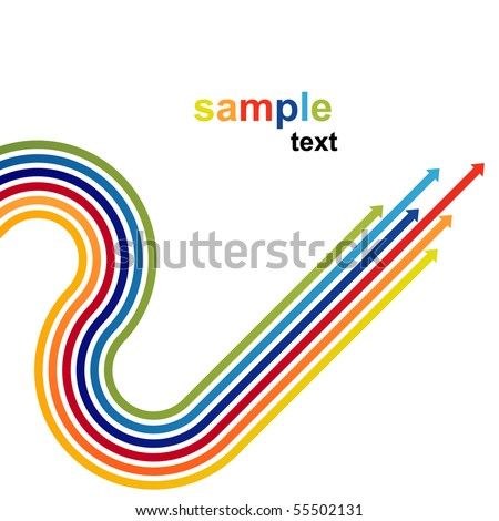 Colored arrows vector - stock vector