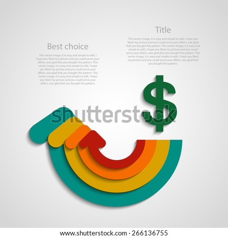 Colored arrows with the direction of a circle infographic - stock vector