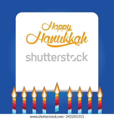 Colored background with text and traditional elements for hanukkah celebrations