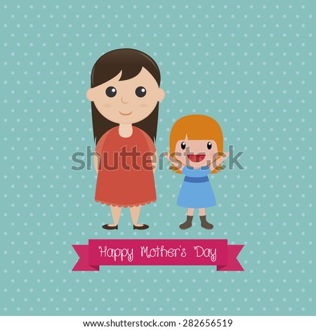 Colored background with text for mother's day. Vector illustration