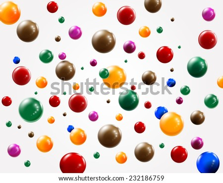 Colored balls background. Vector eps 10 - stock vector