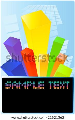 colored bars - stock vector