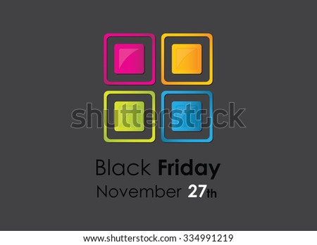 colored black friday background with special design elements - stock vector