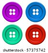 colored button - vector - stock photo