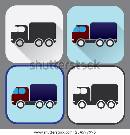 Colored buttons of truck - stock vector