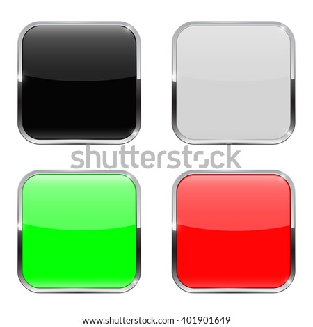 Colored buttons. Web icons. Vector illustration on white background