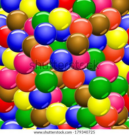 colored candies,samples,pattern - stock vector