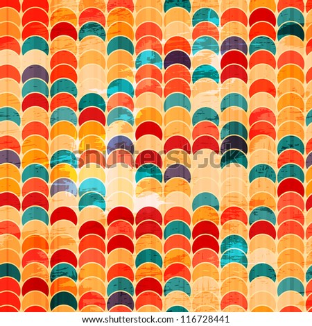 colored circle grunge seamless - stock vector